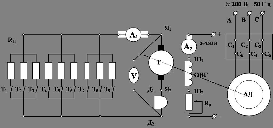 Схема генератора с независимым